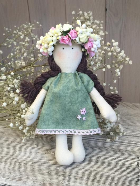 Куклы Тильды ручной работы. Ярмарка Мастеров - ручная работа. Купить Кукла Нежный Ангел. Handmade. Зеленый, кукла, ангелочек