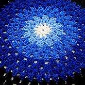 Для дома и интерьера handmade. Livemaster - original item Knitted Mat of cord moonlit night. Handmade.