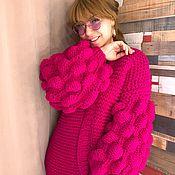 Одежда handmade. Livemaster - original item Cardigan Fuchsia. Handmade.