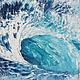 Пейзаж ручной работы. Зефирная волна. K&ART. Интернет-магазин Ярмарка Мастеров. Интерьная картина, необычная картина, морской пейзаж