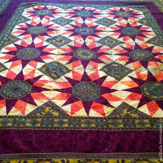 Текстиль, ковры ручной работы. Ярмарка Мастеров - ручная работа. Купить Гимн Солнцу лоскутный  плед. Handmade. Разноцветный, одеяло