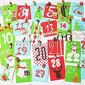 Подарки к праздникам ручной работы. Ярмарка Мастеров - ручная работа Адвент календарь с карточками. Handmade.