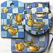 """Для дома и интерьера ручной работы. Ярмарка Мастеров - ручная работа Набор для кухни """"Старинная утварь"""" из 3-х предметов. Handmade."""