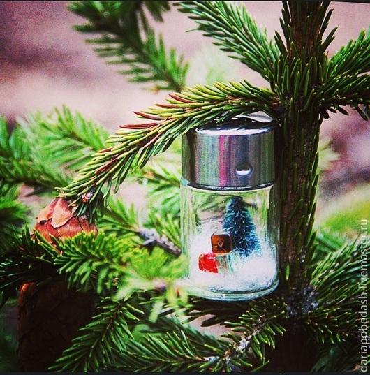 Новый год 2017 ручной работы. Ярмарка Мастеров - ручная работа. Купить Новый Год под стеклом Christmas in the glass dome. Handmade.