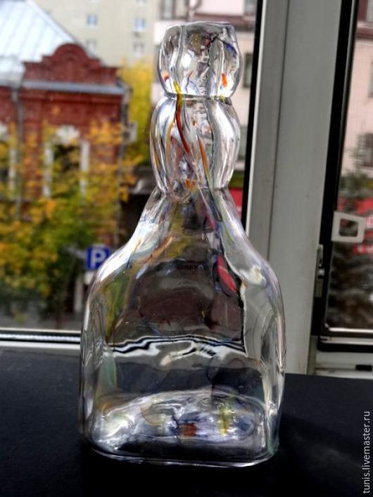 Декоративная посуда ручной работы. Ярмарка Мастеров - ручная работа. Купить Стеклянная бутылка декоративная 2. Handmade. Бутылка, интерьер