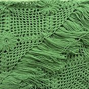 Аксессуары handmade. Livemaster - original item SABINE crochet shawl 200*110 cm triangular with tassels e. .05. Handmade.
