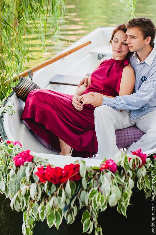Свадебные цветы ручной работы. Ярмарка Мастеров - ручная работа. Купить Оформление фотосессии лодка. Handmade. Оформление свадьбы