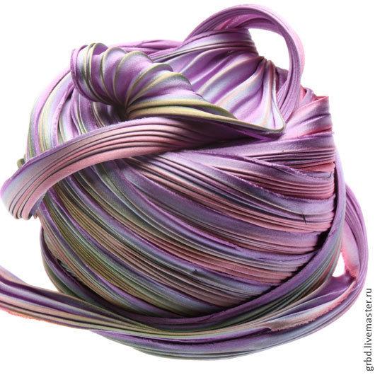 Для украшений ручной работы. Ярмарка Мастеров - ручная работа. Купить Шелковая лента Шибори (Shibori) цвет Passion Flower. Handmade.