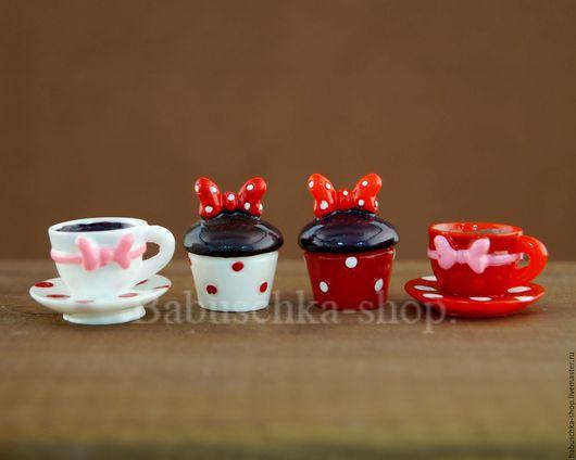 Куклы и игрушки ручной работы. Ярмарка Мастеров - ручная работа. Купить Декоративный элемент Кекс, чайная пара.. Handmade. Декор