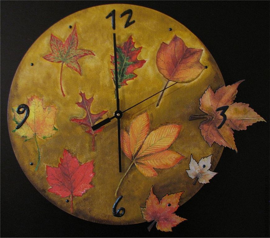 можете приобрести часы из листьев картинки исполнятся мечты