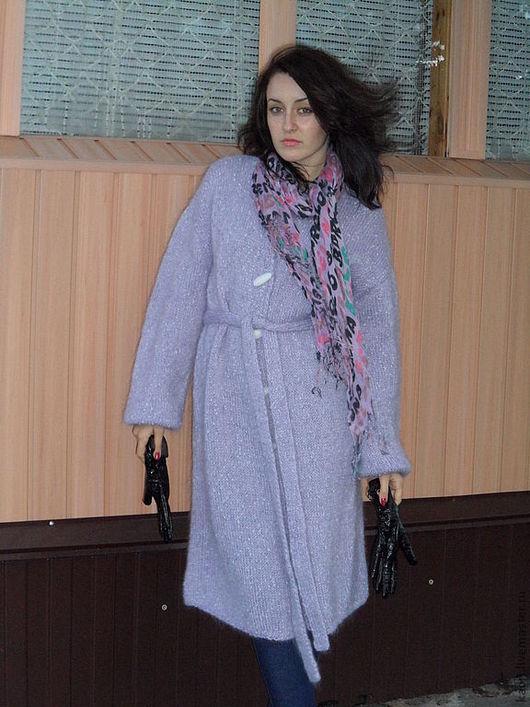 Верхняя одежда ручной работы. Ярмарка Мастеров - ручная работа. Купить вязаное пальто LAVANDER. Handmade. Сиреневый, для женщин