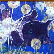 """Картины и панно ручной работы. Ярмарка Мастеров - ручная работа Картина """"Котенок в одуванчиках"""" акварель. Handmade."""