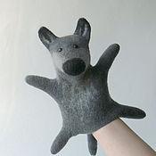 Куклы и игрушки ручной работы. Ярмарка Мастеров - ручная работа Серый Волк перчаточная игрушка. Handmade.
