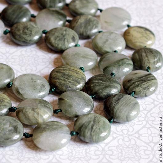 Для украшений ручной работы. Ярмарка Мастеров - ручная работа. Купить Агат с кварцем 16х6 мм таблетка - бусины камни для украшений. Handmade.