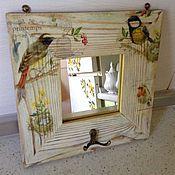 Для дома и интерьера ручной работы. Ярмарка Мастеров - ручная работа Интерьерное зеркало Птицы. Handmade.