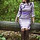 Платья ручной работы. Ярмарка Мастеров - ручная работа. Купить Платье вязаное авторское Обожание Миссони 1. Handmade. Брусничный