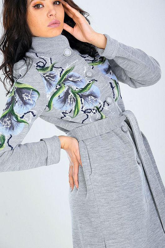 Верхняя одежда ручной работы. Ярмарка Мастеров - ручная работа. Купить ПЛ20. Handmade. Цветочный, авторская ручная работа