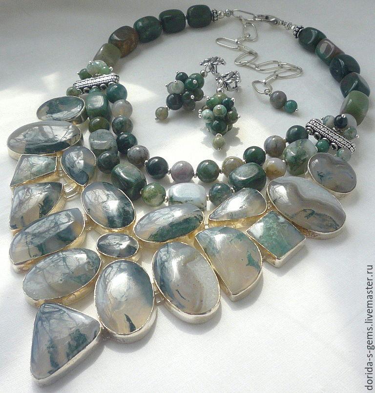 necklace, designer necklace, elegant necklace, necklace for every day necklace out, the necklace of agate necklace, agate necklace, agate beads, moss agate beads, agate jewelry