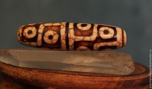 Для украшений ручной работы. Ярмарка Мастеров - ручная работа. Купить Тибетская бусина Дзи ( Зи ) 12 Глаз. Handmade.