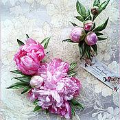 """Цветы и флористика handmade. Livemaster - original item Peonies """"Freshness Pink"""" +/Exclusive series// silk flowers accessories. Handmade."""