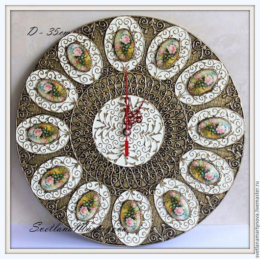 Часы для дома ручной работы. Ярмарка Мастеров - ручная работа. Купить Часы настенные. Handmade. Часы, часы интерьерные