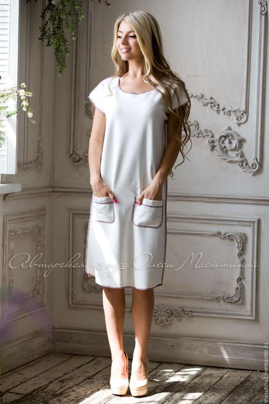 """Платья ручной работы. Ярмарка Мастеров - ручная работа. Купить Платье """"Comfort"""". Handmade. Белый, масютина олеся"""