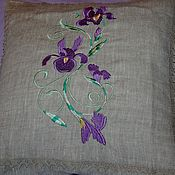 Для дома и интерьера handmade. Livemaster - original item Two linen pillowcases with embroidery
