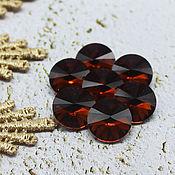 Материалы для творчества handmade. Livemaster - original item Glass rhinestones 12 mm Rivoli Topaz. Handmade.