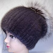 Аксессуары handmade. Livemaster - original item hats: Yarmulke with silver Fox (Aurora). Handmade.