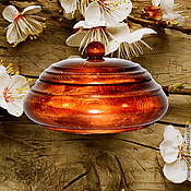 Для дома и интерьера handmade. Livemaster - original item A jug with a lid from natural Siberian Cedar Barrel K29. Handmade.