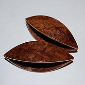 Материалы для творчества handmade. Livemaster - original item A Pair of Very Large Wooden Tatting Shuttles Hand Made in Walnut Burl. Handmade.