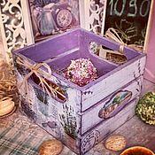 Для дома и интерьера ручной работы. Ярмарка Мастеров - ручная работа Лавандовая милота, ящичек, декупаж. Handmade.