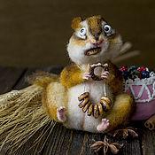 Куклы и игрушки ручной работы. Ярмарка Мастеров - ручная работа Запасливый бурундук. Handmade.