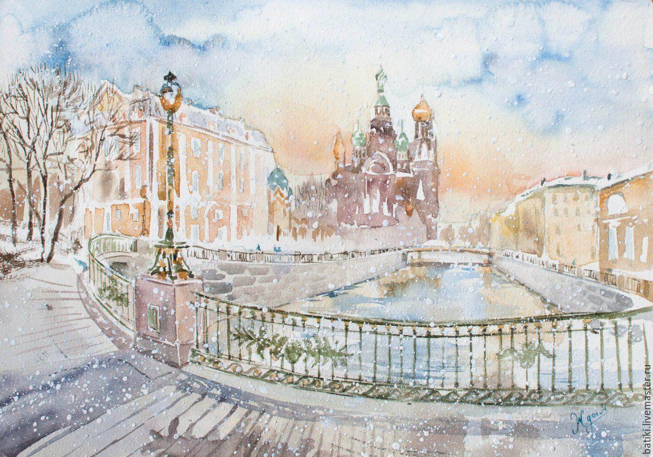 Картинки телефон, акварельная открытка санкт-петербург
