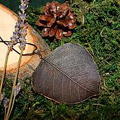 Украшения ручной работы. Ярмарка Мастеров - ручная работа Скелетированный лист. Handmade.