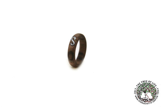 Кольца ручной работы. Ярмарка Мастеров - ручная работа. Купить Деревянное кольцо с инкрустацией. Handmade. Подарок девушке, подарок на годовщину