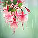 Авторская фото картина с цветами фуксии в квадратном формате © Ануфриева Елена. Авторские фото картины для интерьера