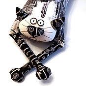 """Куклы и игрушки ручной работы. Ярмарка Мастеров - ручная работа Игрушка-подушка """"Радужный кот"""" ключи от города. Handmade."""