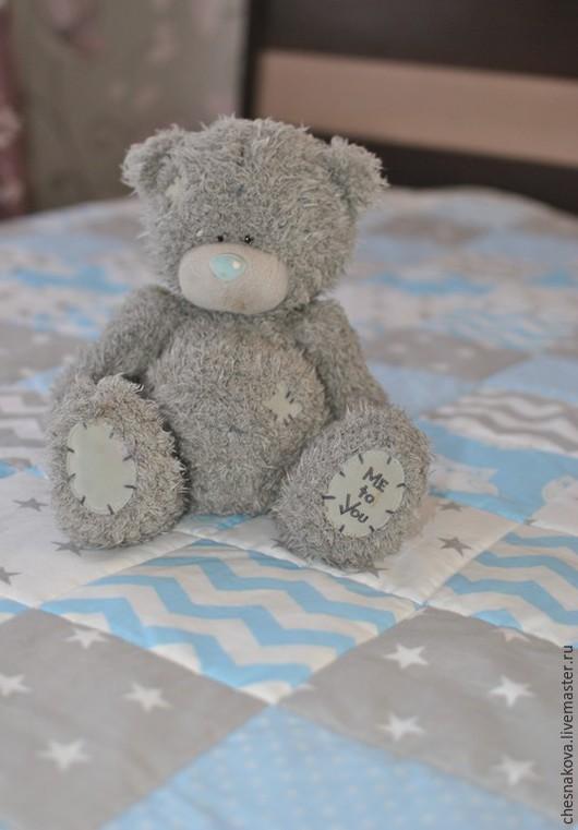 Пледы и одеяла ручной работы. Ярмарка Мастеров - ручная работа. Купить Одеяло нежное. Handmade. Голубой, пэчворк, хлопок американский