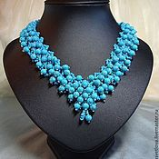 "Украшения handmade. Livemaster - original item Necklace ""Turquoise waterfall"". Handmade."