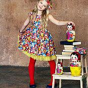 """Платье ручной работы. Ярмарка Мастеров - ручная работа Платье для девочки """"Матрешки-матрешечки"""". Handmade."""