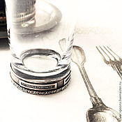 Посуда handmade. Livemaster - original item Flora stack (silver). Gift for silver wedding.. Handmade.