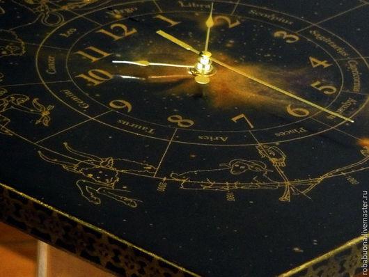 """Часы для дома ручной работы. Ярмарка Мастеров - ручная работа. Купить Часы """"Туманность Шарплесс"""". Handmade. Часы, подарок"""