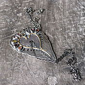 Украшения ручной работы. Ярмарка Мастеров - ручная работа РУССКИЕ СЕЗОНЫ кулон (серебро, золото, шпинели,турмалин). Handmade.
