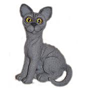 Мягкие игрушки ручной работы. Ярмарка Мастеров - ручная работа Кошка Сфинкс - игрушка из войлока, шерсти. Handmade.