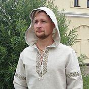 Мужская одежда handmade. Livemaster - original item Shirt with a hood