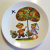 """Посуда ручной работы. Ярмарка Мастеров - ручная работа Тарелка  """"За летом следом"""". Handmade."""