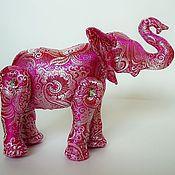 """Куклы и игрушки ручной работы. Ярмарка Мастеров - ручная работа Игрушка """"Розовый слон"""". Handmade."""