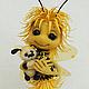 Миниатюра ручной работы. Ярмарка Мастеров - ручная работа. Купить Пчелка Одуванчикова. Handmade. Желтый, туфли, проволока