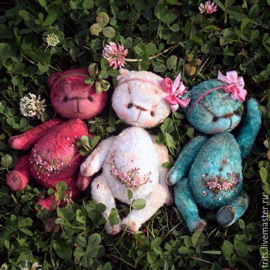 Мишки Тедди ручной работы. Ярмарка Мастеров - ручная работа. Купить Цветочные девочки. Handmade. Суглобова татьяна, тедди мишка